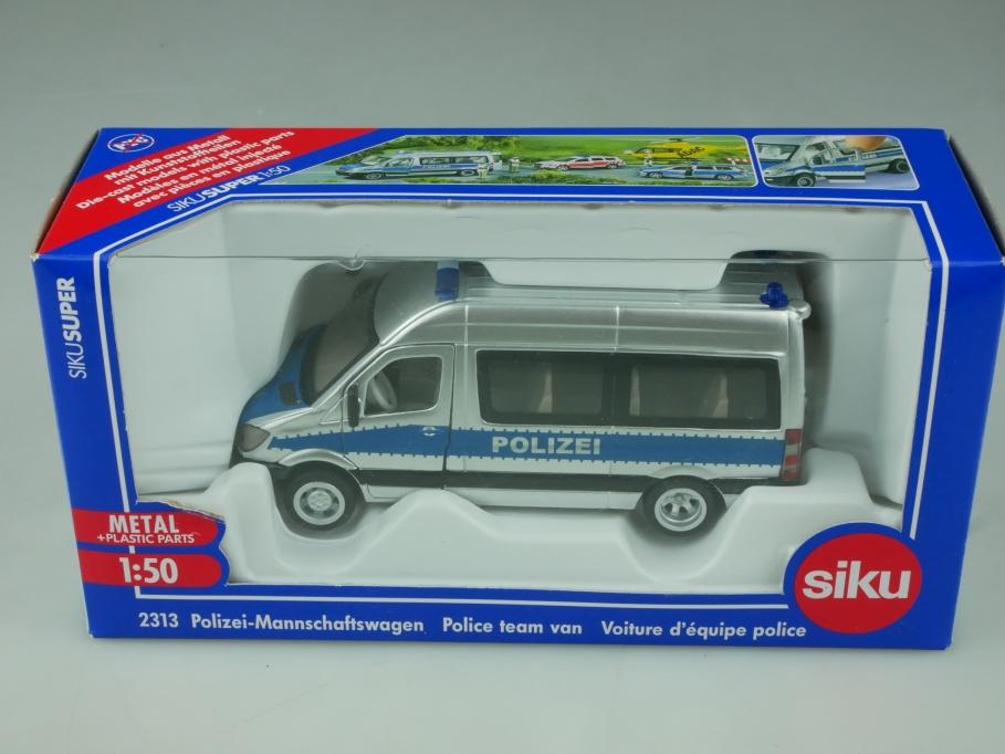 2313 Siku 1/50 Mercedes Benz Sprinter Polizei Mannschaftswagen mit Box 513545