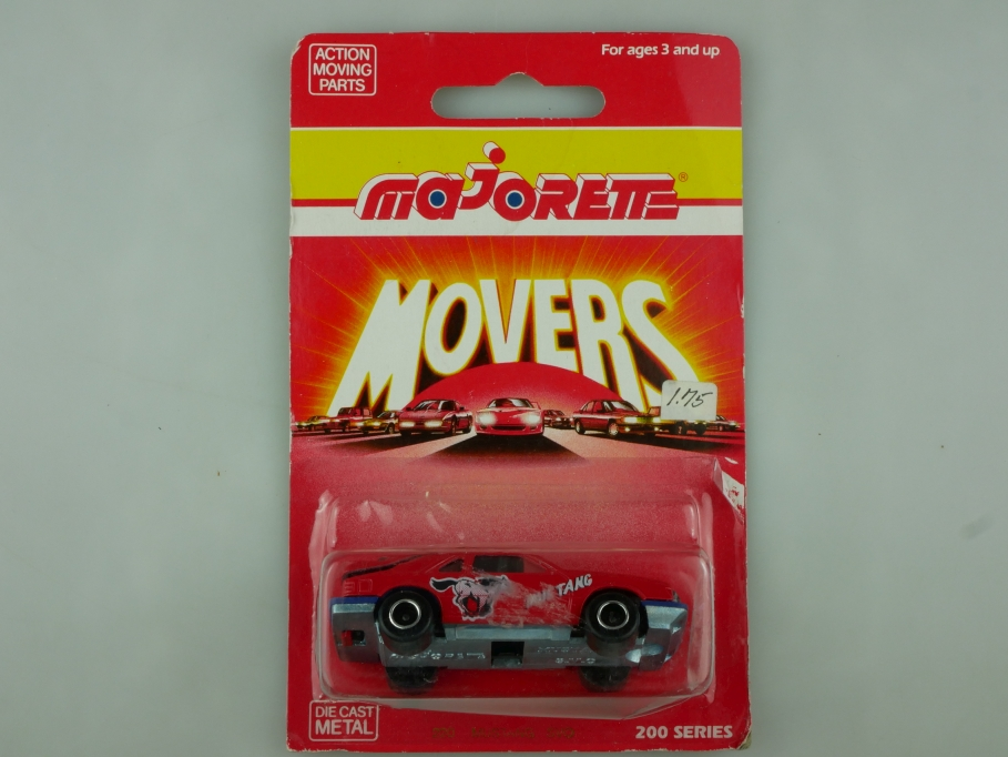 220 Majorette 1/59 Ford Mustang SVO Coupe Movers mit Box 513571