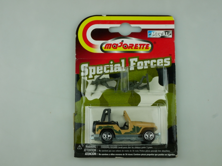266 Majorette 1/54 Jeep Renegade CJ Special Forces Militär mit Box 513591