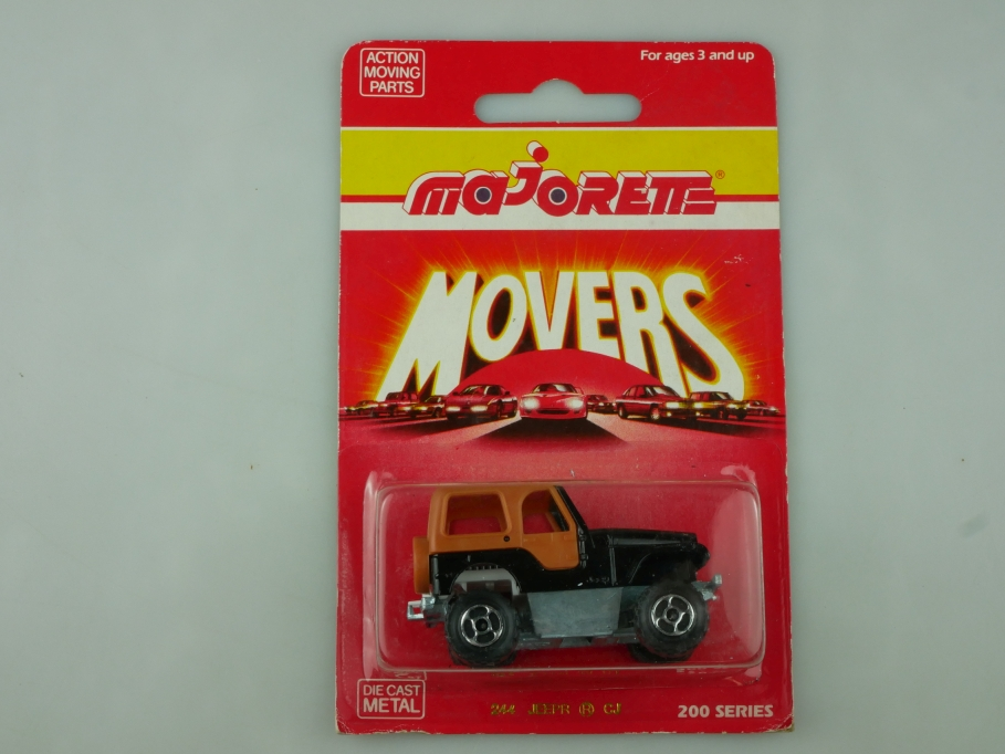 244 Majorette 1/54 Jeep Renegade CJ Special Movers 1990 Thailand mit Box 513592