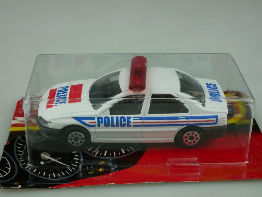 218 Majorette 1/58 Peugeot 406 Police Polizei Thailand 1991 mit Box 513598
