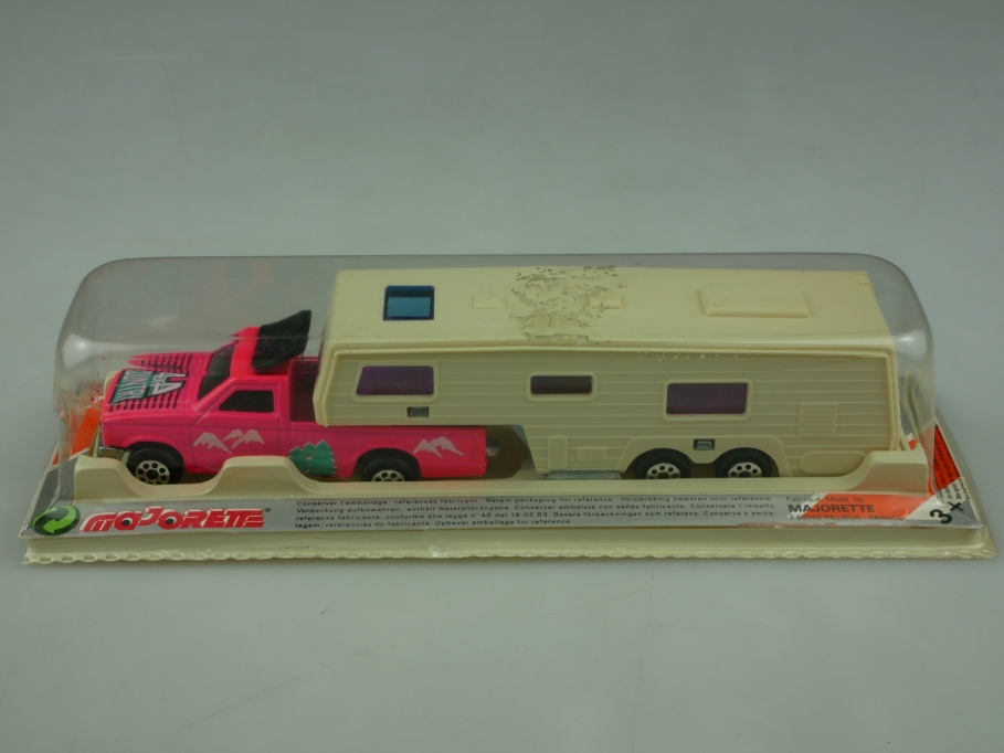 315 Majorette 1/60 Ford Ranger Pickup mit Country Camping Auflieger  Box 513606