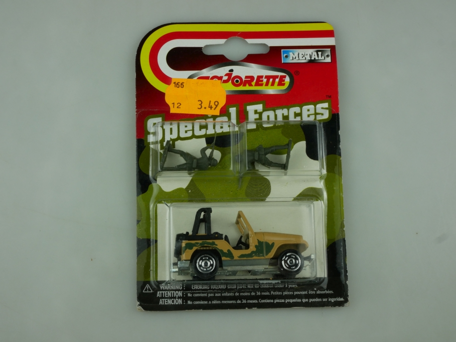 268 Majorette 1/54 Jeep CJ Renegade Militär Special Forces mit Box 513616