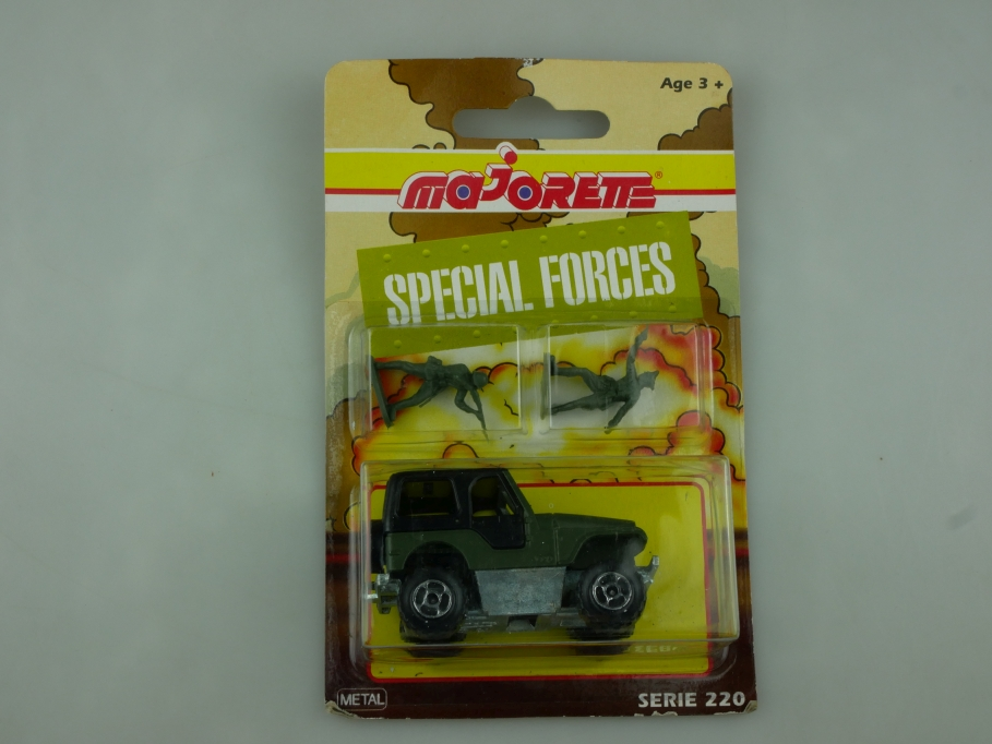 290 Majorette 1/54 Jeep CJ Renegade Militär Special Forces mit Box 513617