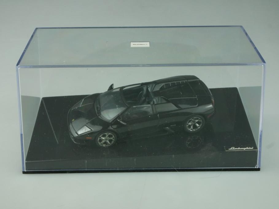 Autoart 1/43 Lamborghini Murcielago Roadster limited black mit Box 513655