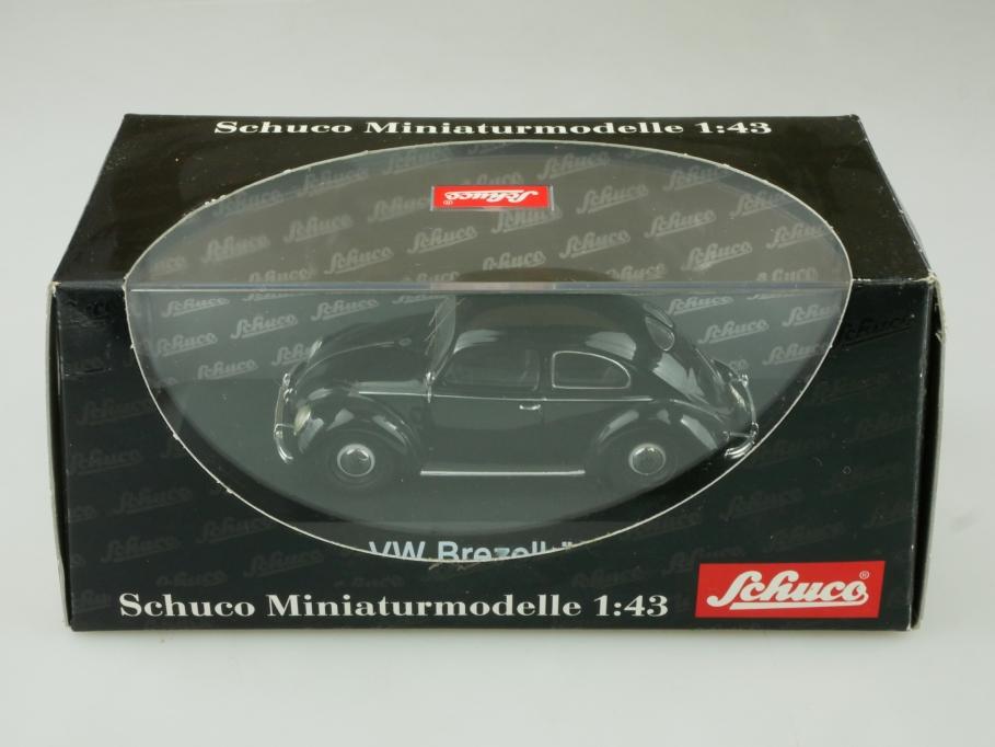 02791 Schuco 1/43 VW Brezelfensterkäfer Bug Beetle Volkswagen black  Box 513690