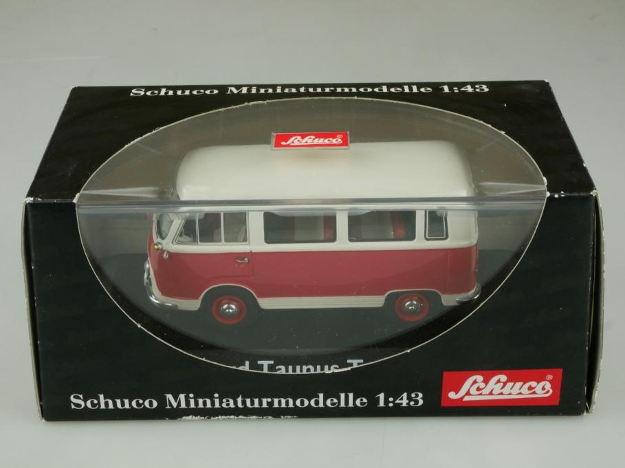 03201 Schuco 1/43 Ford Transit FK Panorama Bus mit Box 513691