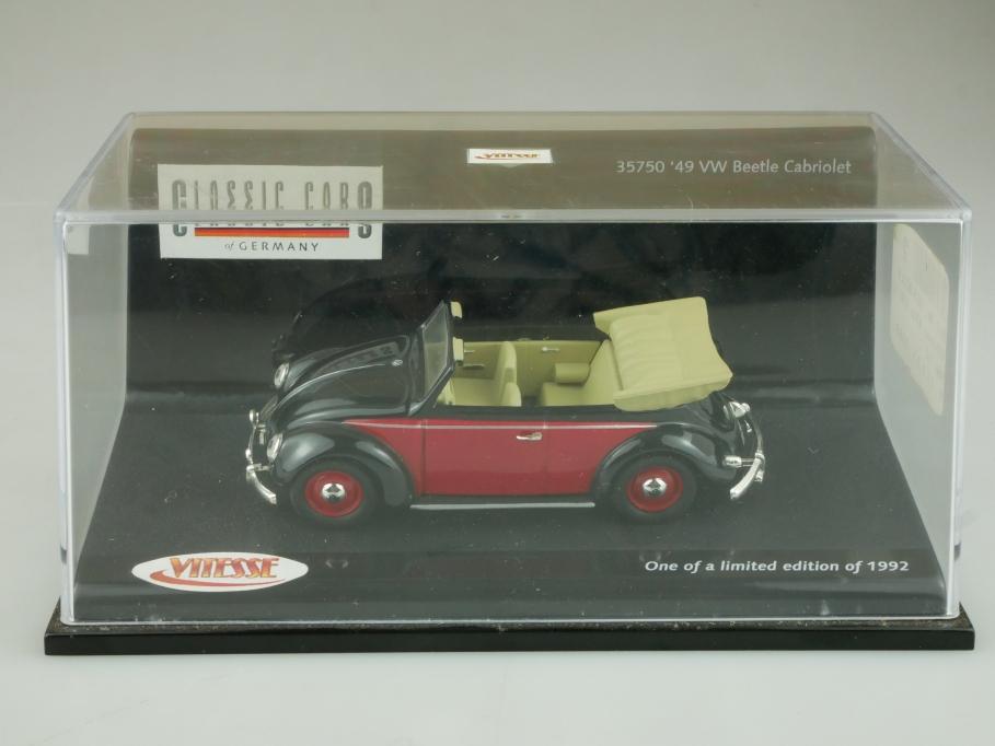 35750 Vitesse 1/43 VW Käfer Bug Beetle Cabrio 1949 Limited mit Box 513697