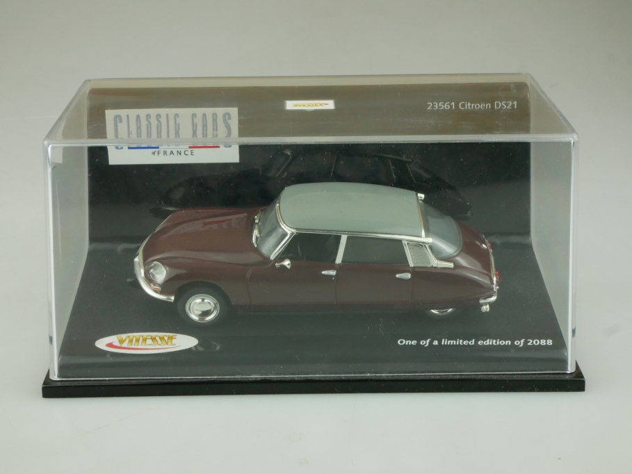 23561 Vitesse 1/43 Citroen DS 21 die Göttin bordeaux grey Limited mit Box 513698