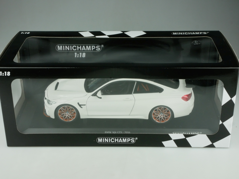 Minichamps 1/18 BMW M4 GTS Coupe 2016 Limited 402 mit Box 513708
