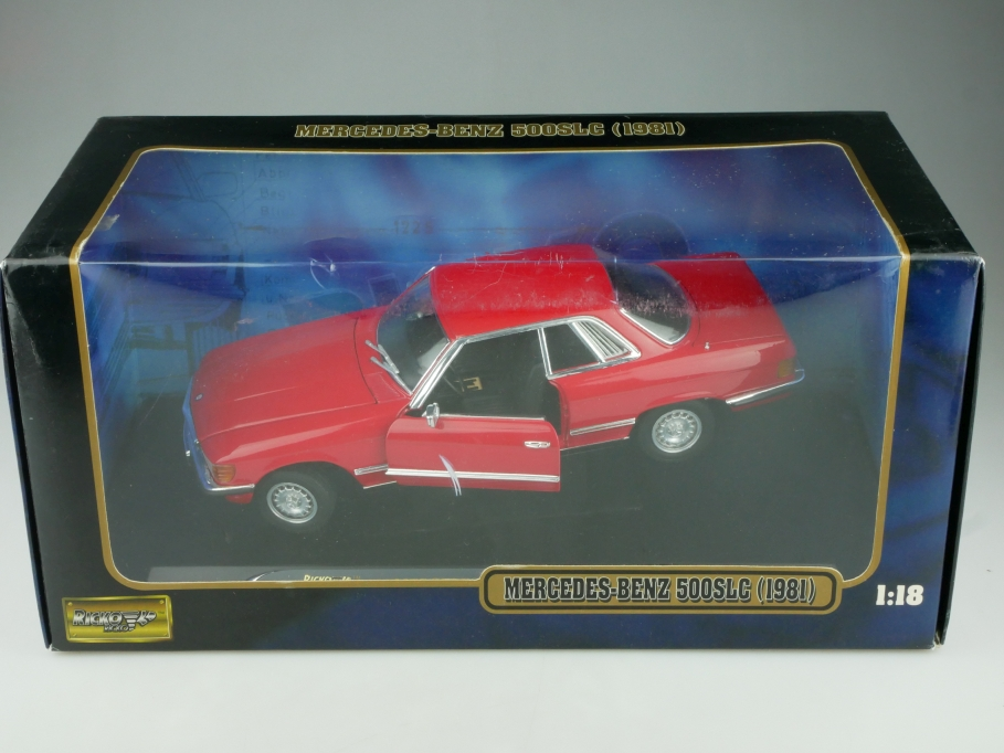 Ricko 1/18 Mercedes Benz 500 SLC Coupe 1981 C 107 red mit Box 513711