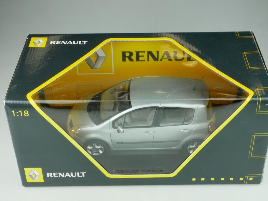 Norev 1/18 Renault Modus 2004 silvermetallic Händleredition mit Box 513747