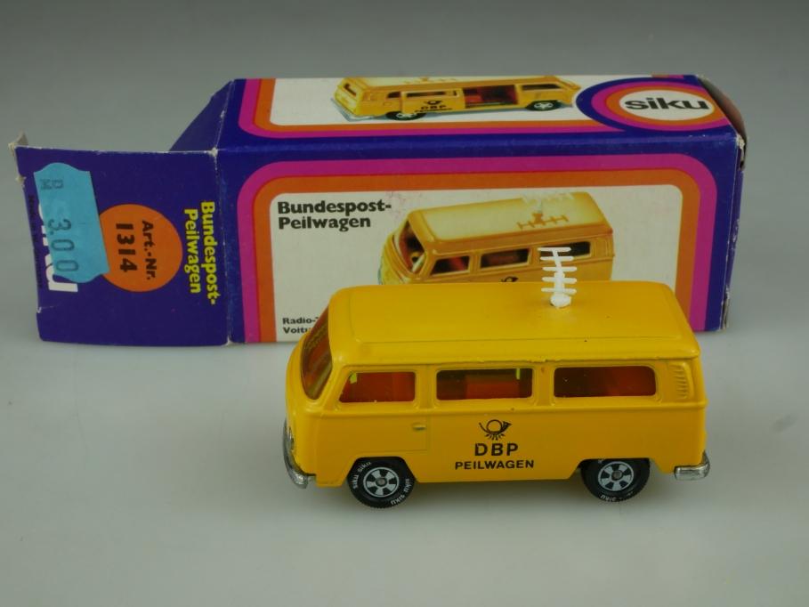 1314 Siku 1/55 VW T2 Bundespost Peilwagen Volkswagen Bus mit Box 513770