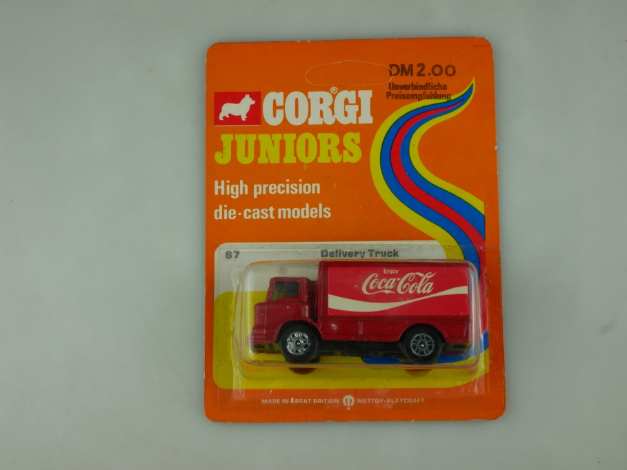 87 Corgi Juniors ca 1/100 Leyland Coca Cola Delivery Truck mit Box 513780