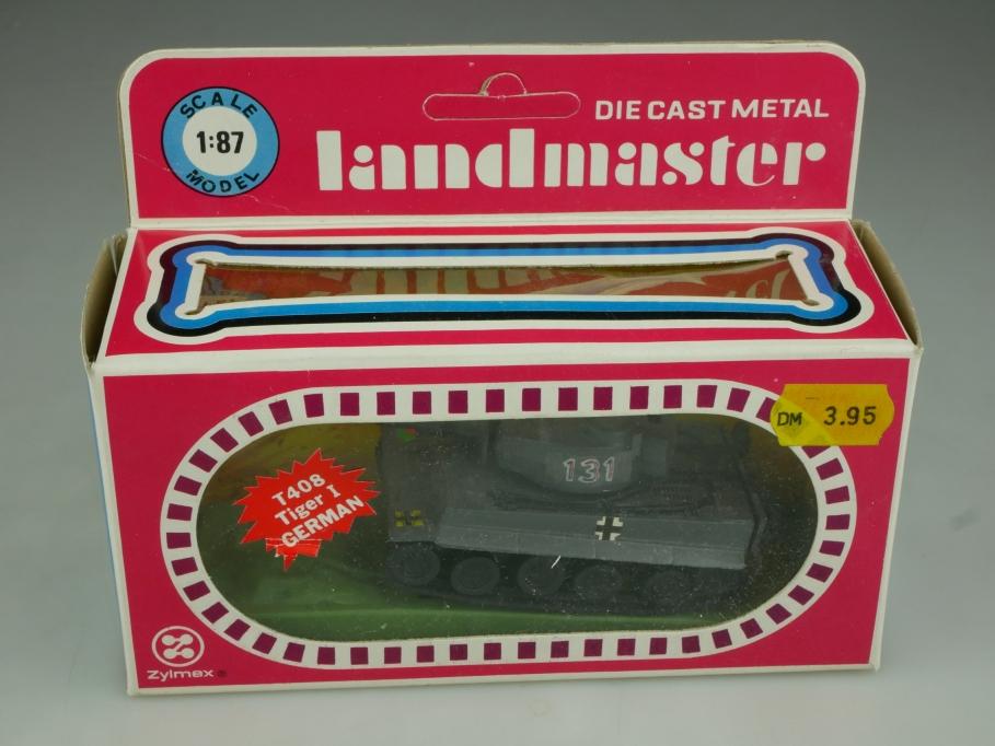 T 408 Zylmex Landmaster 1/87 Tiger 1 German Tank Panzer mit Box 513782