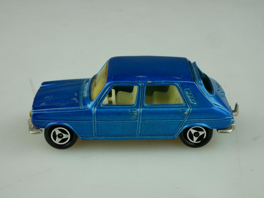 234 Majorette 1/60 Simca 1100 TI Compact bluemetallic ohne Box 513795