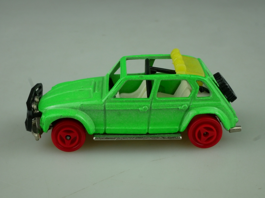 231 Majorette 1/60 Citroen Dyane Rallye Cross leuchtgrün red wheels o Box 513796
