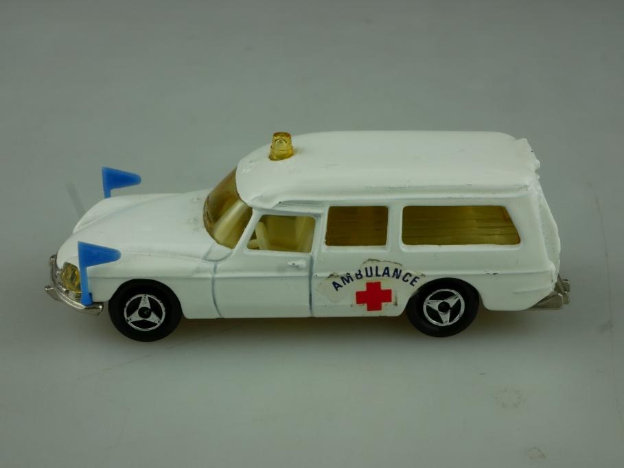 201 Majorette 1/65 Citroen DS 21 Rotkreuz Ambulance Krankenwagen ohne Box 513797