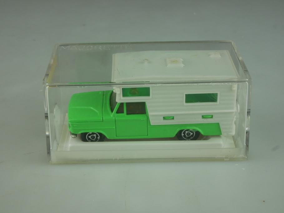 209 Majorette 1/80 Dodge Saviem Pickup Camper Camping Car mit Box 513839