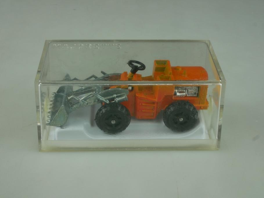 211 Majorette 1/80 Tracto-Pelle Radlader Schaufelbagger mit Box 513840