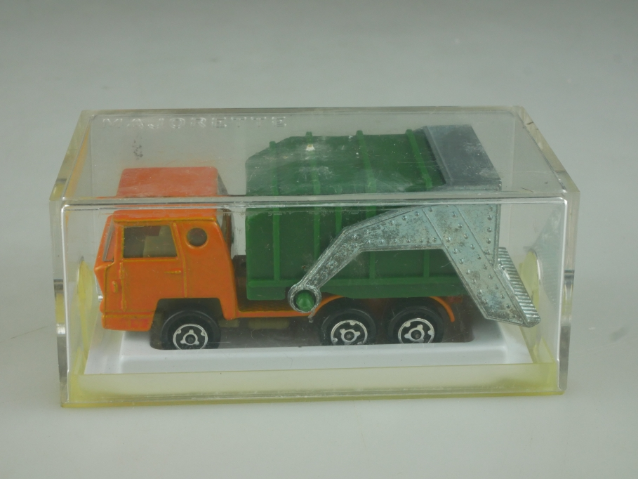 218 Majorette 1/100 Benne Ordure Bernard Truck Müllwagen LKW mit Box 513843