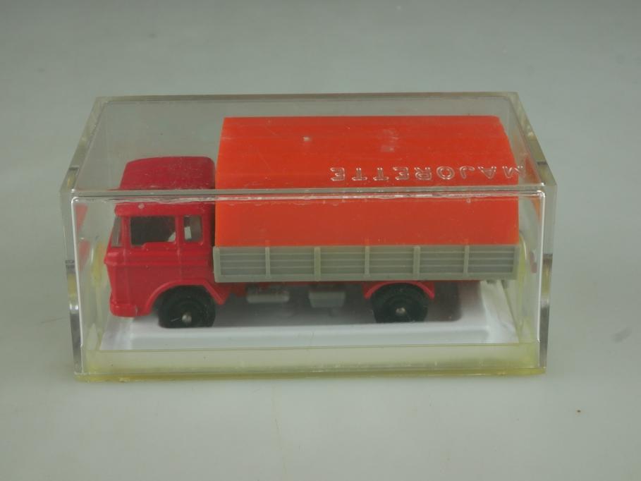 241 Majorette 1/100 DAF Truck Blache Pritschenwagen Plane mit Box 513845