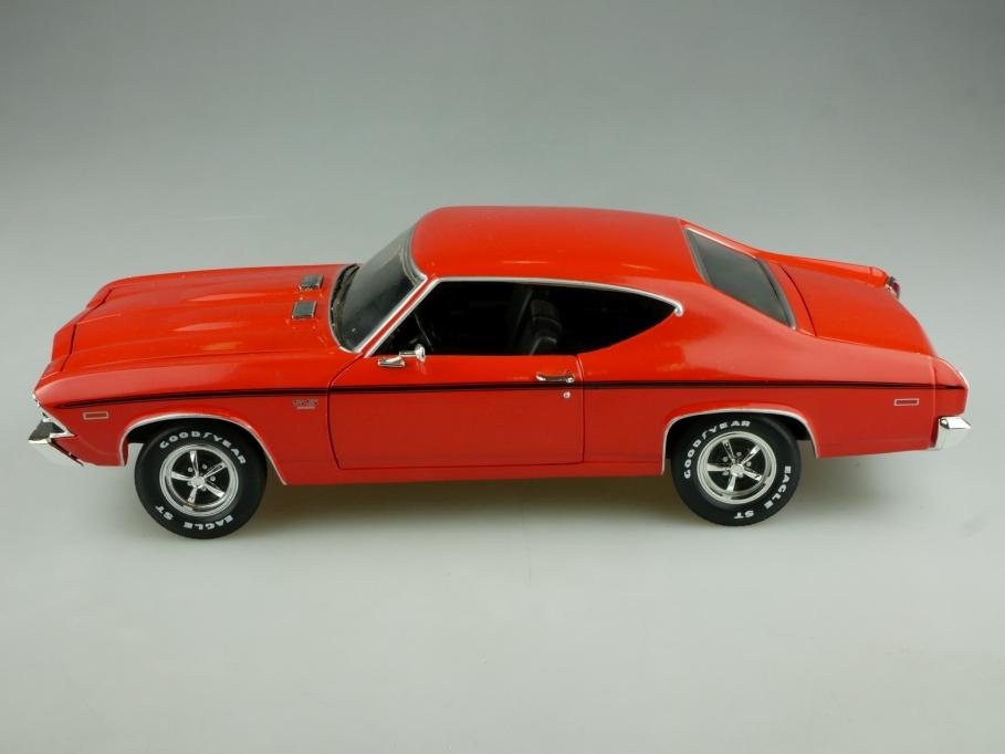 Ertl 1/18 Chevrolet Chevelle 427 Hardtop Coupe 1969 orange ohne Box 513856