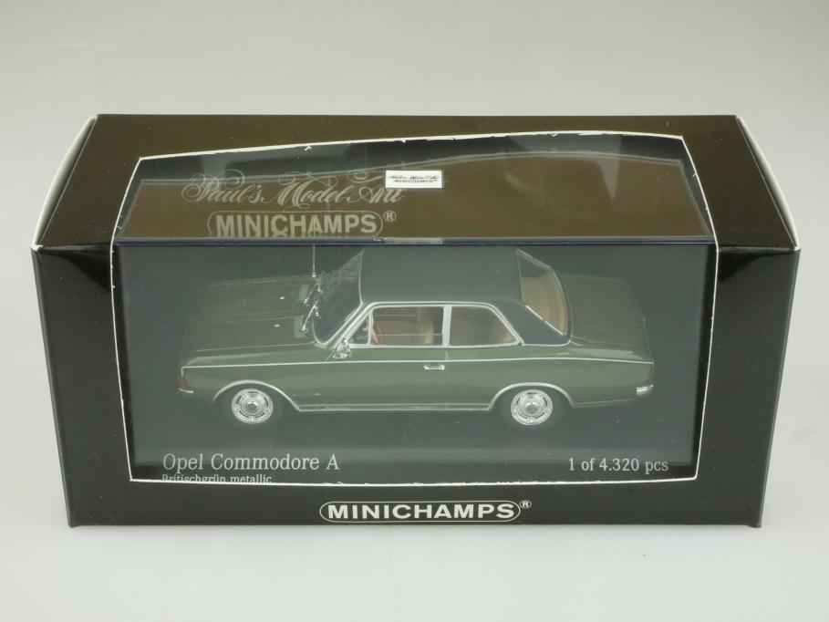 46160 Minichamps 1/43 Opel Commodore A 1966 british green mit Box 513899
