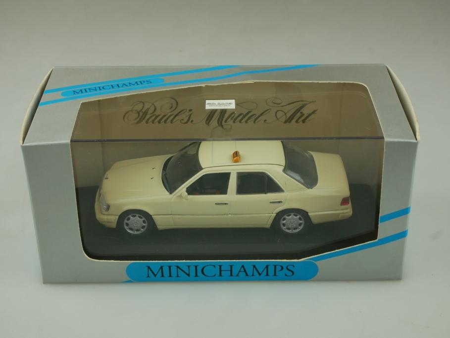 33595 Minichamps 1/43 Mercedes Benz W 124 E Klasse Limousine1994 Taxi Box 513909