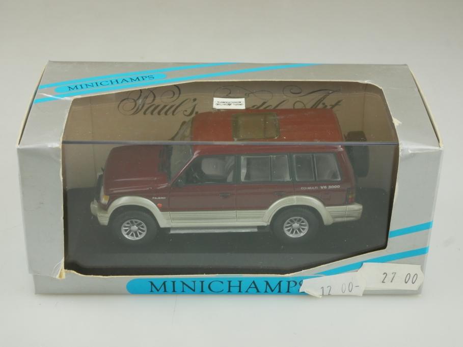 163427 Minichamps 1/43 Mitsubishi Pajero LWB 1994 redmetallic mit Box 513917