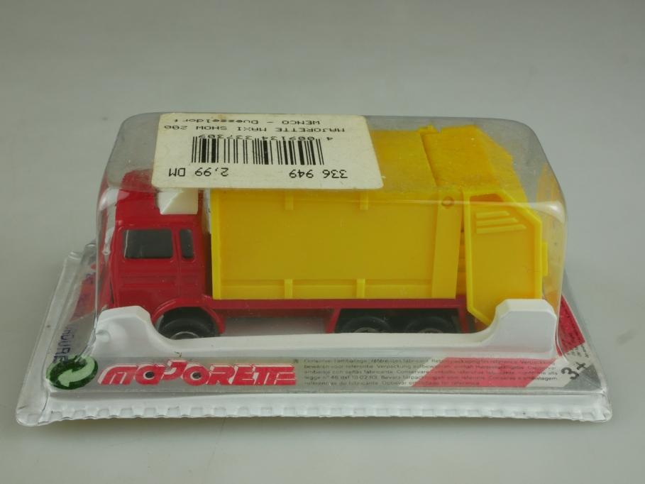 247 Majorette 1/100 Renault Truck Benne Ordure Müllwagen mit Box 513949