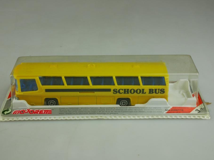 373 Majorette 1/87 Neoplan School Bus Schulbus gelb schwarz mit Box 513950