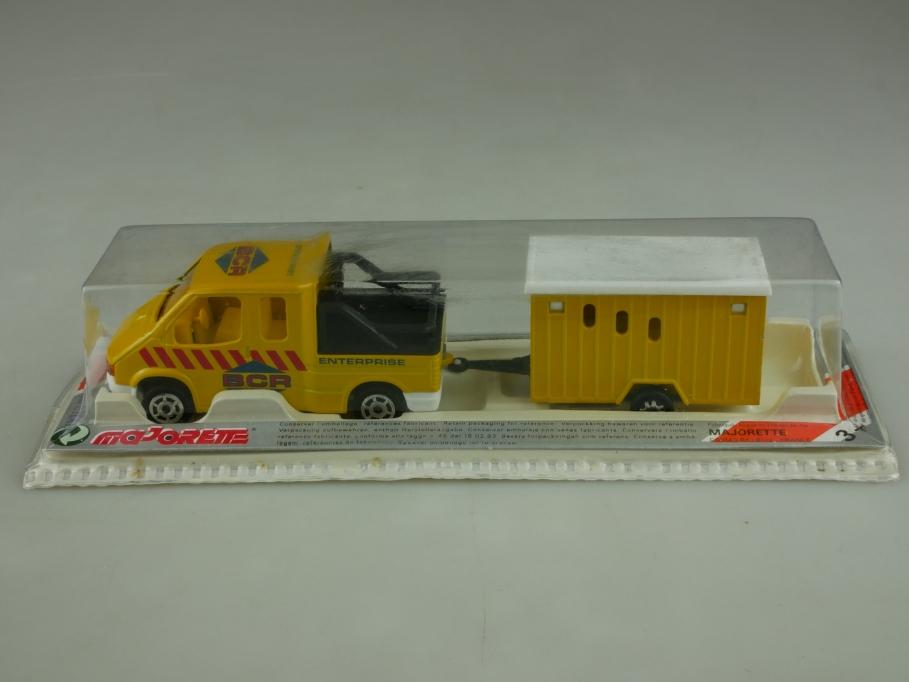 315 Majorette 1/60 Ford Transit Doka BCR Enterprise & Trailer Anhänger   513951