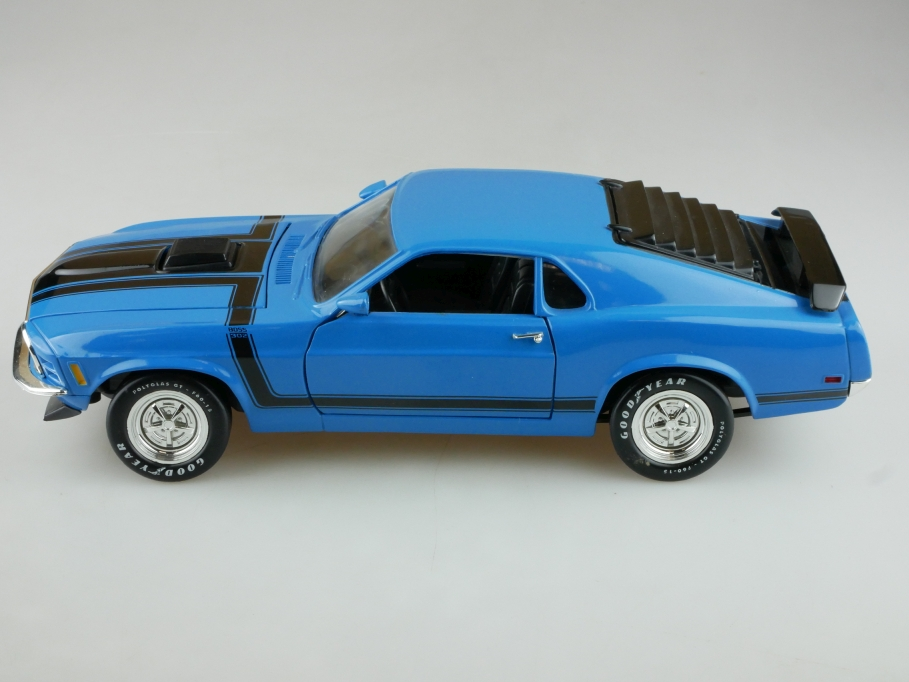 Ertl 1/18 Ford Mustang Boss 302 Fastback Coupe 1970 blau ohne Box 513953