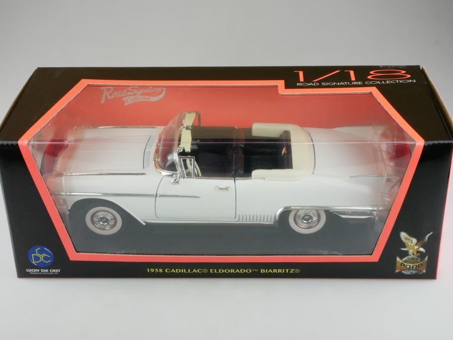 Road Signature 1/18 Cadillac Eldorado Biarritz Convertible 1958 mit Box 513955
