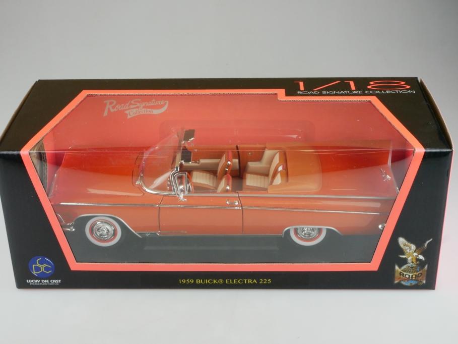 Road Signature 1/18 Buick Electra Convertible 1959 orange mit Box 513957