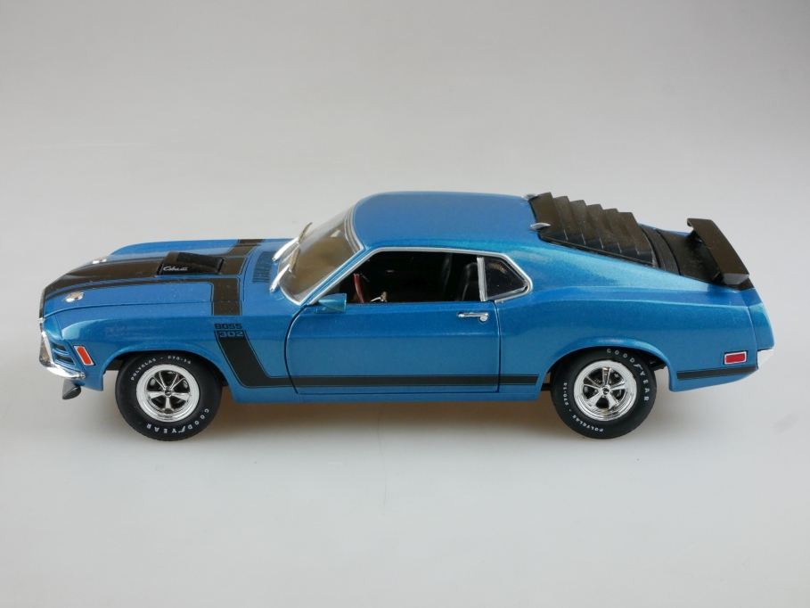 M2 Models 1/24 Ford Mustang Fastback Coupe Boss 429 bluemet. ohne Box 513959