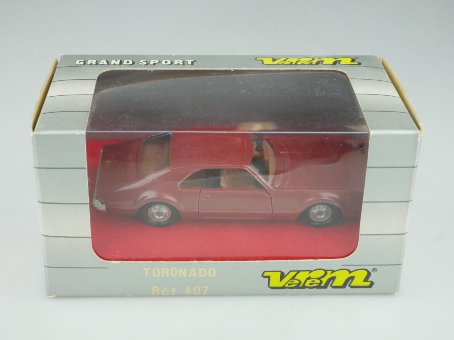 407 Verem 1/43 Oldsmobile Toronado Hardtop Coupe mit Box 513978