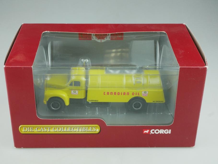 53301 Corgi Toys ca.1/50  Mack B Rigid Tanker White Rose Canadian Oil Box 513983