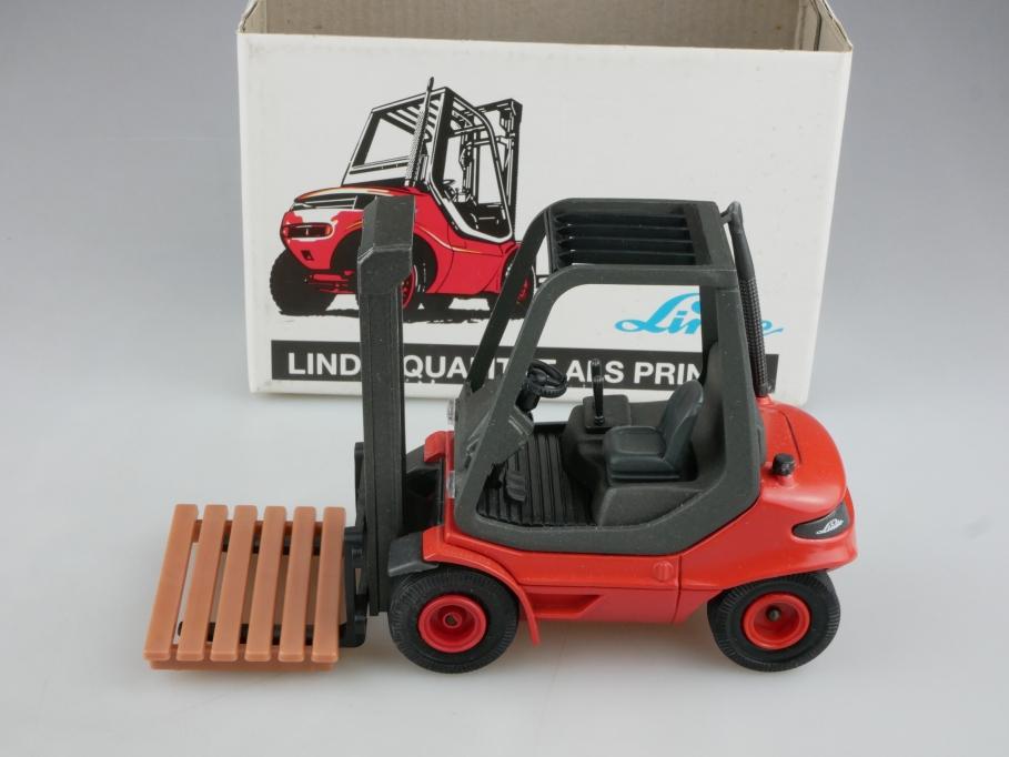 52419 Gama Schuco 1/25 Linde Gabelstapler Forklift mit seltener Box 513986