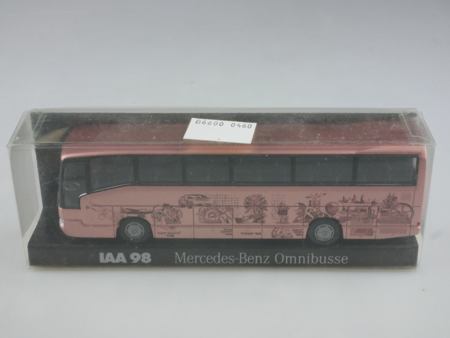 Rietze 1/87 Mercedes Benz O 404 Omnibusse IAA 1998 rosemetallic mit Box 513993