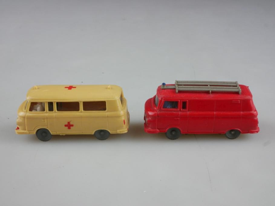 Espewe 1/87 DDR IFA Barkas B 1000 Feuerwehr Krankenwgn. Konvolut ohne Box 513999