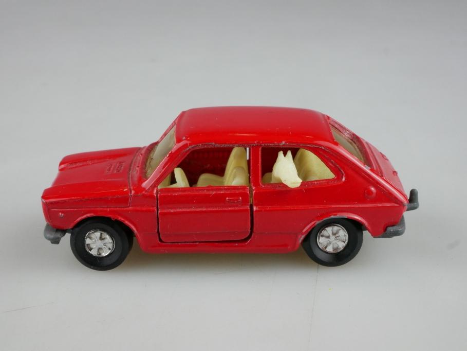 203 Majorette 1/55 Fiat 127 Compact red ohne Box 514027