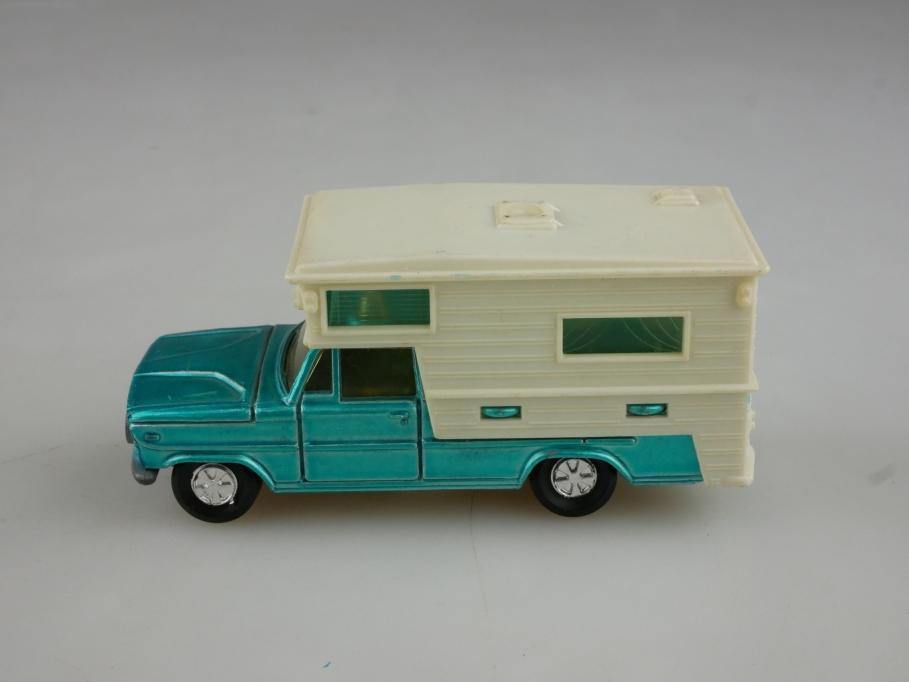 209 Majorette 1/80 Saviem Dodge Camper Wohnmobil bluemetallic ohne Box 514030