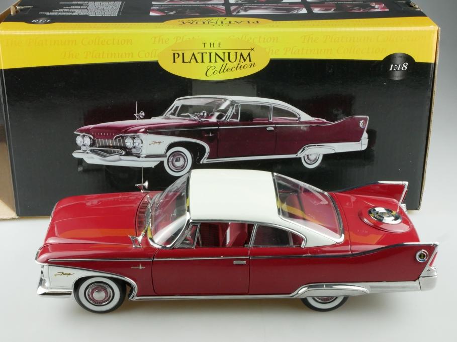 Sun Star 1/18 Plymouth Fury Hardtop Coupe 1960 darkred white mit Box 514087