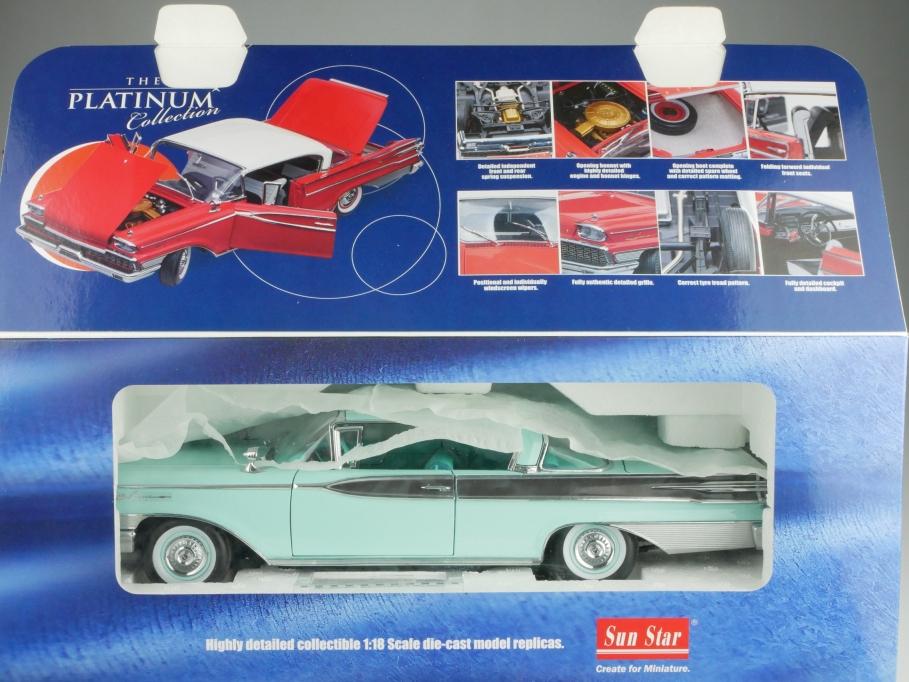Sun Star 1/18 Mercury Park Lane Hardtop Coupe 1959 blue white mit Box 514088