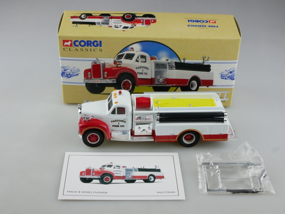 98486 Corgi Classics 1/50 Mack B Series Pumper Paxtonia Fire Truck  Box 514101