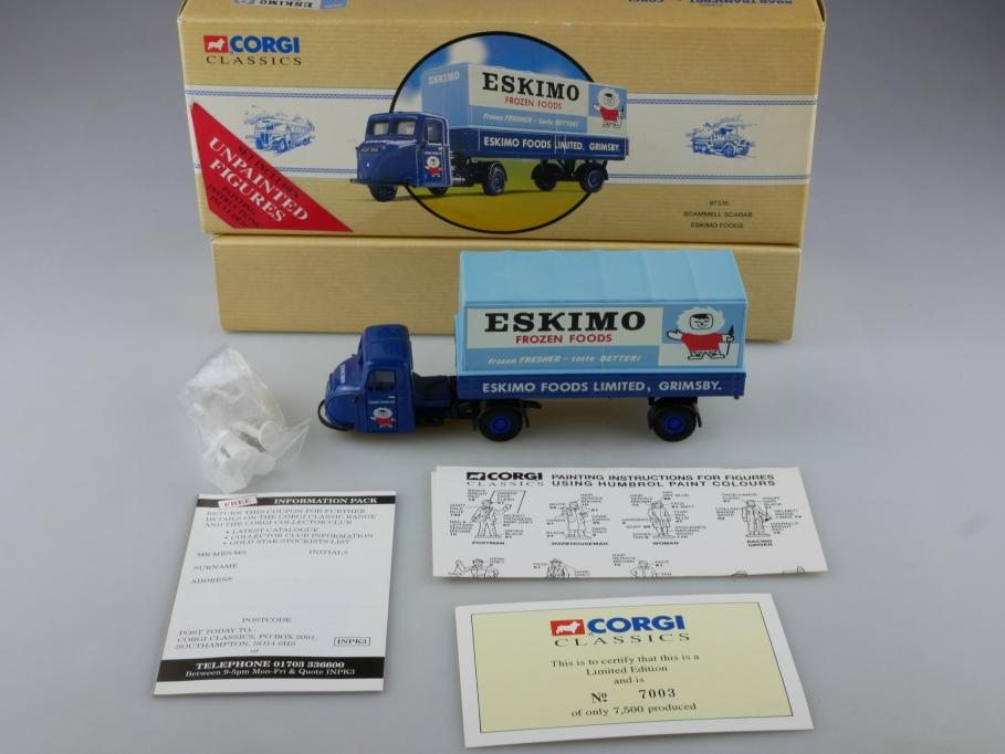 97335 Corgi Classics 1/50 Scammel Scarab Dreirad Eskimo Foods mit Box 514103