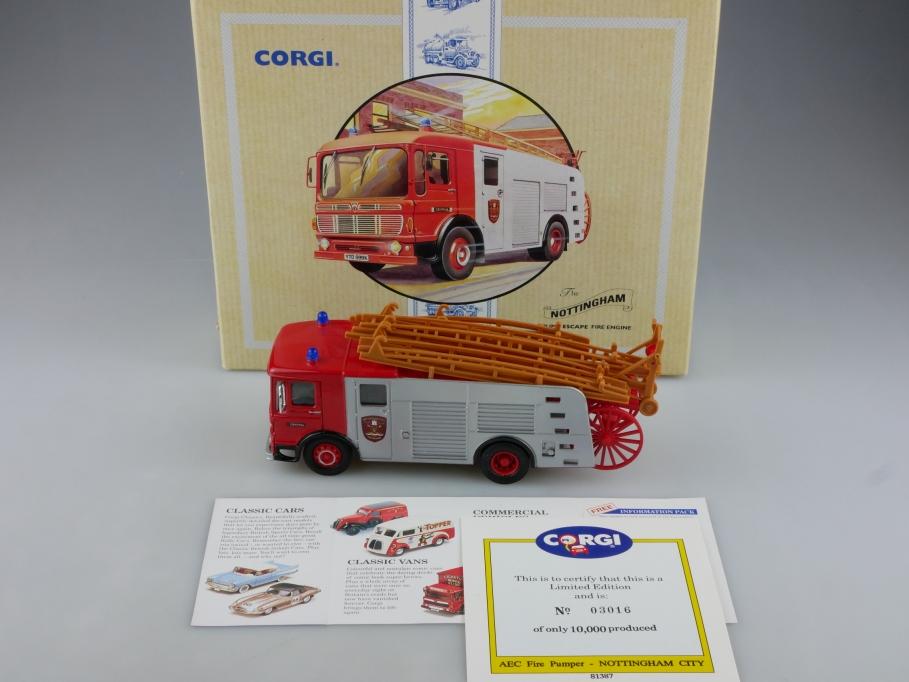 97335 Corgi Classics 1/50 AEC Pump Escape Fire Engine Nottingham mit Box 514110