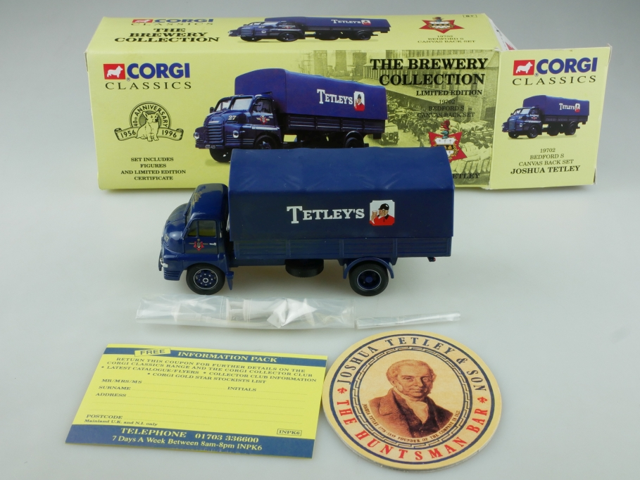 19702 Corgi Classics 1/50 Bedford Canvas Back Set Tetleys mit Box 514114